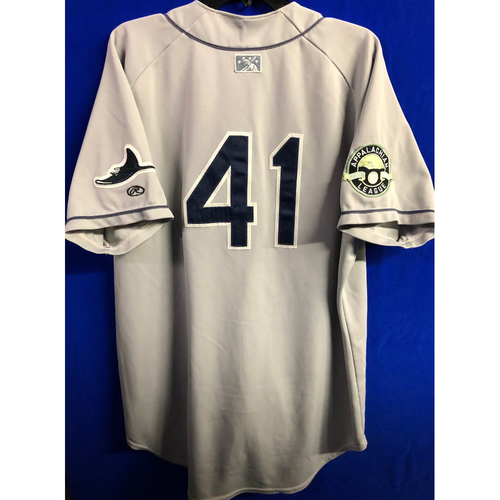Team Issued Appalachian League Gray Jersey - #41