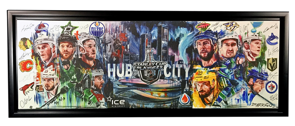2020 NHL STANLEY CUP PLAY-OFFS EDMONTON HUB CITY FRAMED 12X36
