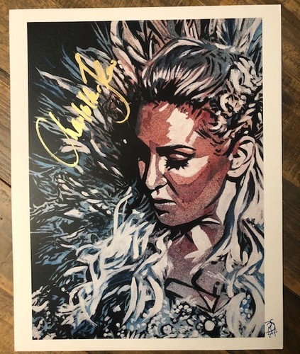 Photo of Charlotte Flair SIGNED 11 x 14 Rob Schamberger Print (Magnificent in Her Glory)