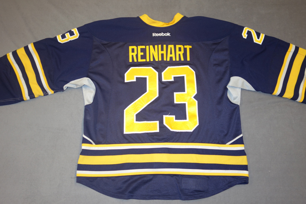 172108088a0 Sam Reinhart Game Worn Buffalo Sabres Home Jersey - NHL Auctions