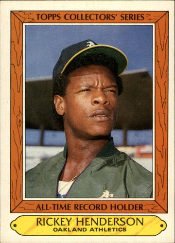 Photo of 1985 Woolworth's Topps #17 Rickey Henderson