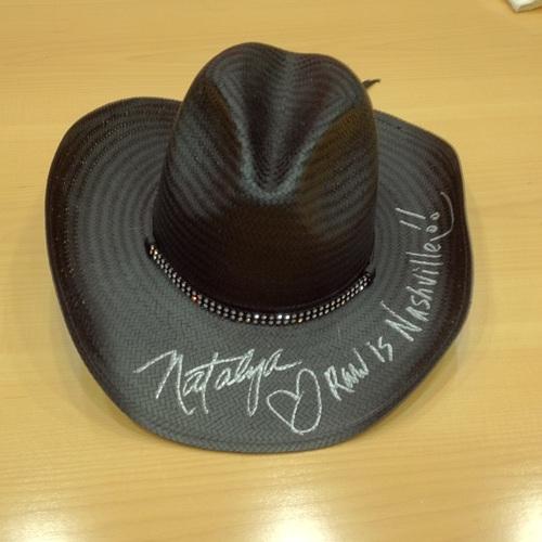 WORN & SIGNED Natalya Cowboy Hat (RAW Country - 11/18/13)