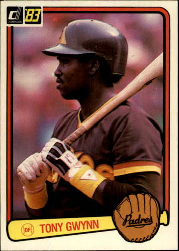 Photo of 1983 Donruss #598 Tony Gwynn Rookie Card -- Hall of Fame Class of 2007
