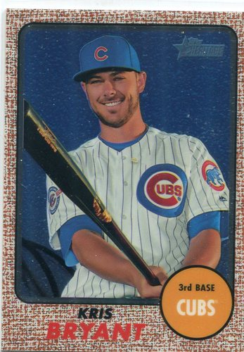 Photo of 2017 Topps Heritage Chrome #THC500 Kris Bryant