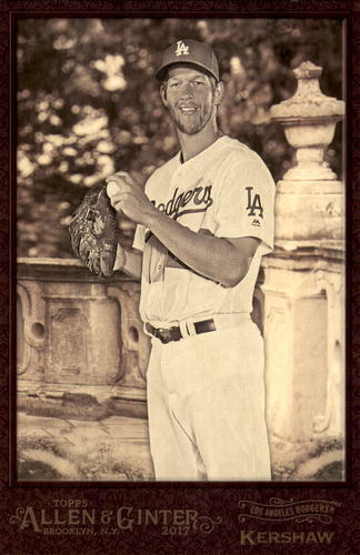 Photo of 2017 Topps Allen and Ginter Box Toppers #BLCK Clayton Kershaw