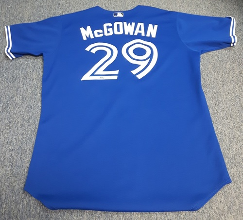 Photo of Authenticated Game Used Jersey - #29 Dustin McGowan (June 8, 2013): 0.1 IP with 0 ER, 1 Walk and 1 K. Size 48.