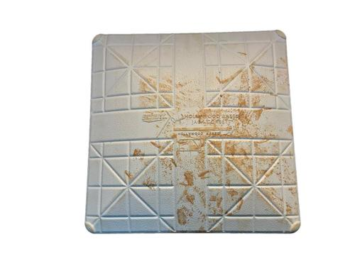 Photo of Game-Used 3rd Base from Pirates vs. Cubs on 6/10/14 - Gregory Polanco MLB Debut - 3rd Inning Single