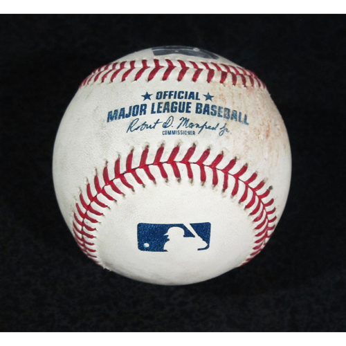 Photo of Game Used Baseball - Pitcher: Hector Santiago, Batter: Kyle Seager (Single - Bot 8) 7/22/18