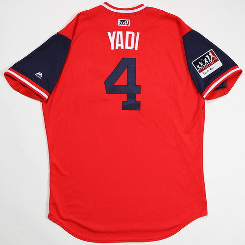 "Photo of Yadier ""Yadi"" Molina St. Louis Cardinals Game-Used 2018 Players' Weekend Jersey"