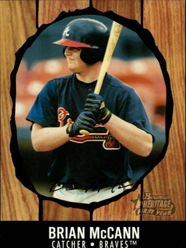 Photo of 2003 Bowman Heritage Facsimile Signature #216 Brian McCann KN