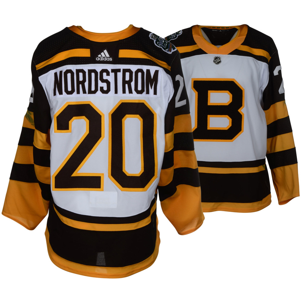 Joakim Nordstrom Boston Bruins Game-Worn 2019 NHL Winter Classic Jersey