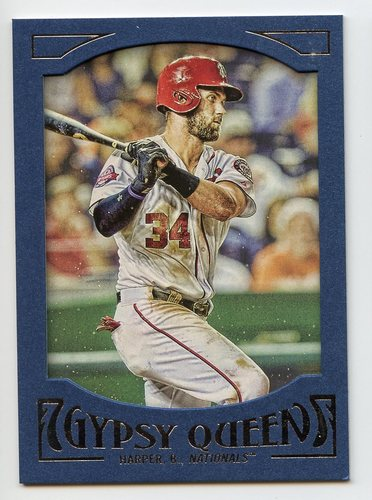 Photo of 2016 Topps Gypsy Queen Framed Blue #23 Bryce Harper