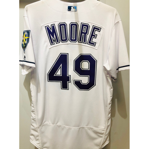 2018 Team Issued Devil Rays Jersey: Adam Moore (size 44)