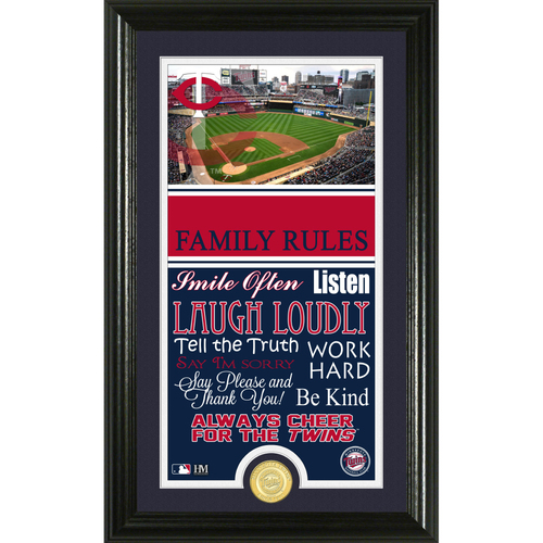 Photo of Minnesota Twins Personalized Family Rules Photo Mint