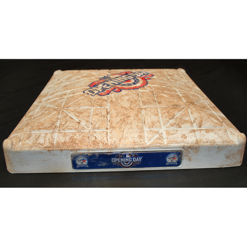 Photo of Game Used Opening Day Base - Boston Red Sox at Toronto Blue Jays (4/8/2016) - 2nd Base - Innings 1 - 3
