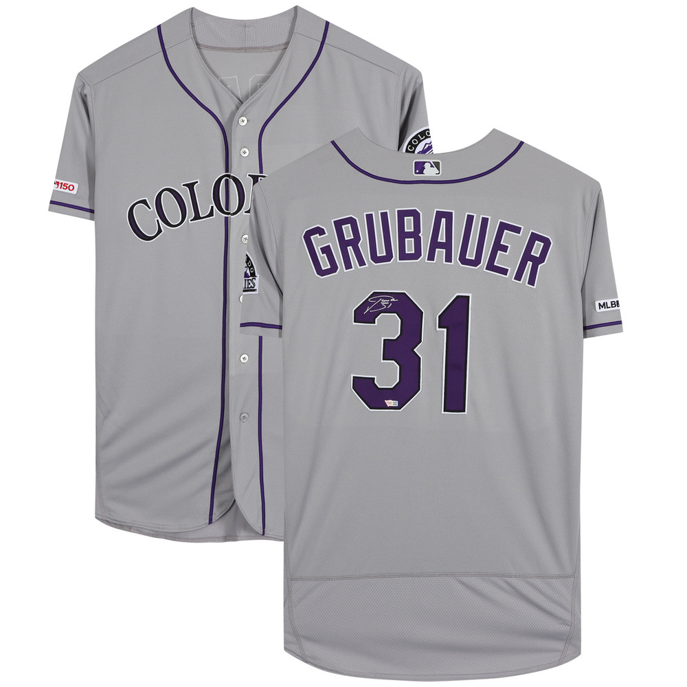 Philipp Grubauer Colorado Avalanche Autographed Colorado Rockies Majestic Authentic Jersey - NHL Auctions Exclusive