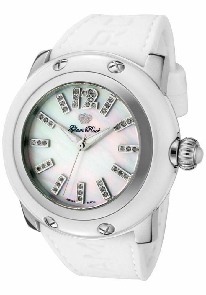 Photo of Glam Rock Women's Miami 42 Diamond Mother-of-Pearl White Watch