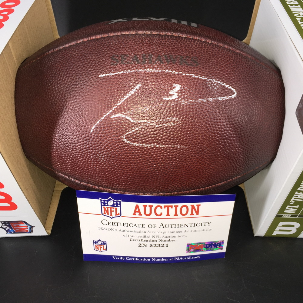 Russell Wilson Signed Game Used Super Bowl 48 Ball