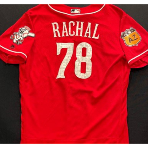 Photo of RACHAL -- Authentic Reds Jersey -- $1 Jersey Auction -- $5 Shipping -- Size 46 (Not MLB Authenticated)
