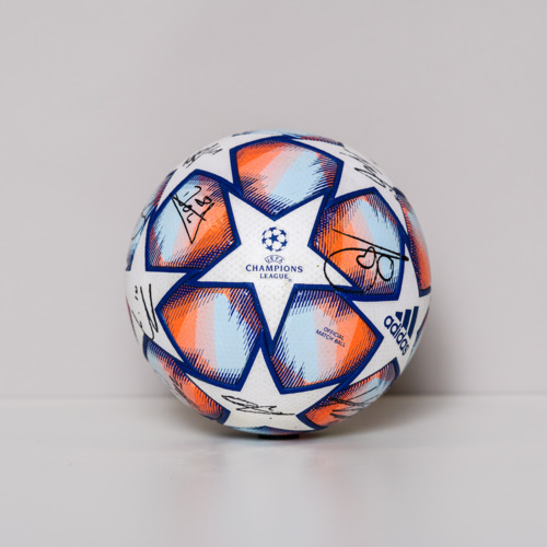 Photo of 20/21 Champions League Ball signed by the RB Leipzig Team