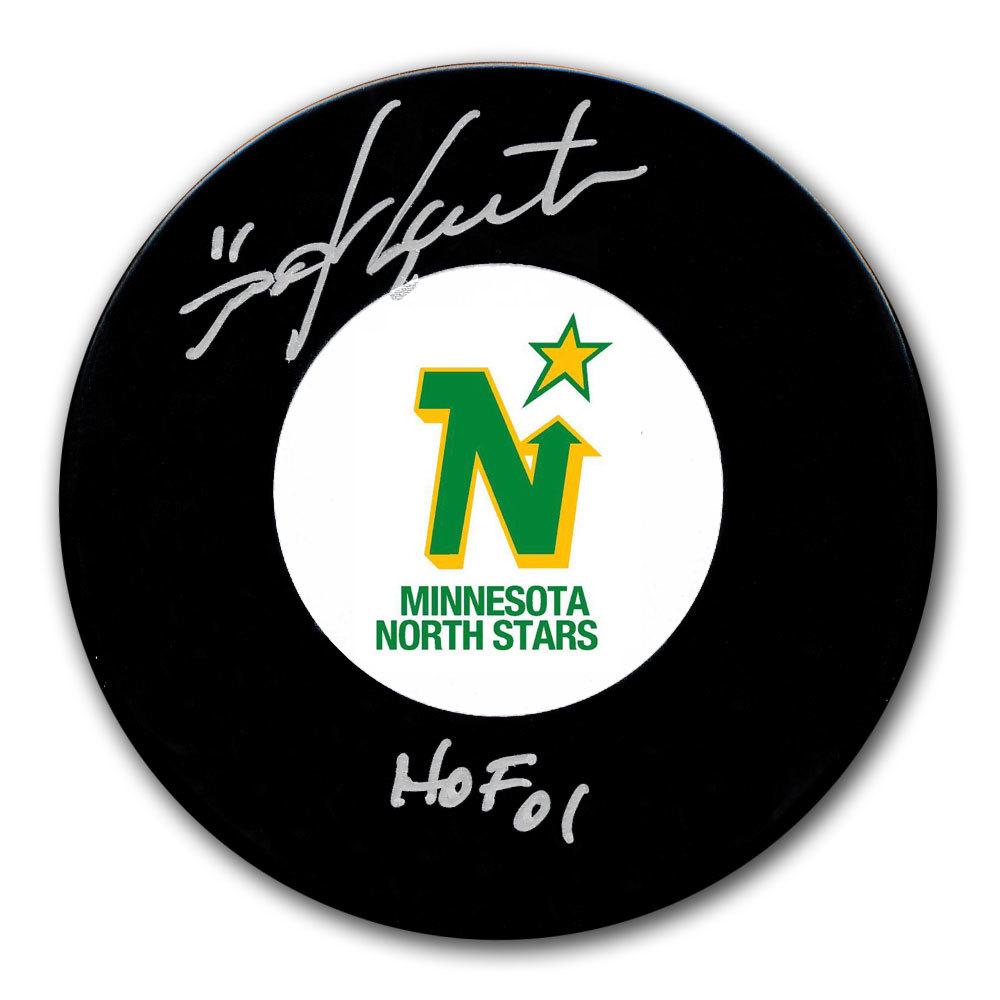 Mike Gartner Minnesota North Stars HOF Autographed Puck