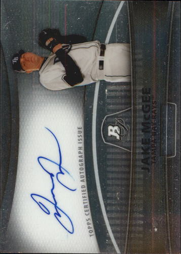 Photo of 2010 Bowman Platinum Prospect Autographs Refractors #JMC Jake McGee