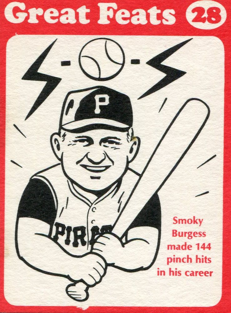1972 Laughlin Great Feats #28 Smoky Burgess