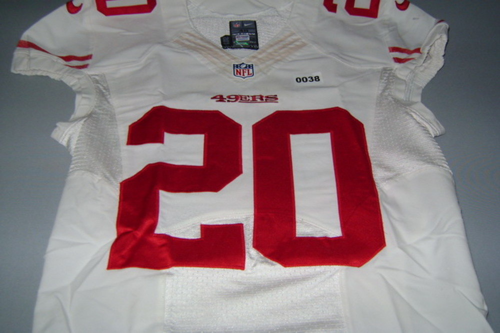 NFL Auction   49ERS - KENNETH ACKER GAME WORN 49ERS JERSEY (USED ...