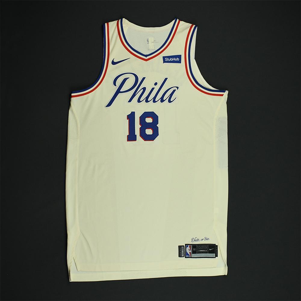 reputable site fe0e5 139b1 Marco Belinelli - Philadelphia 76ers - Game-Worn 'City ...