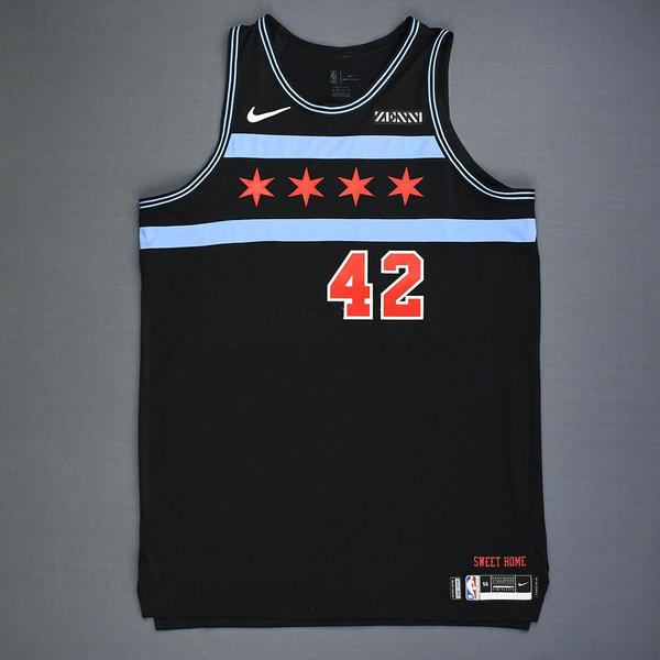 Robin Lopez - Chicago Bulls - Game-Worn City Edition Jersey - 2018 ...