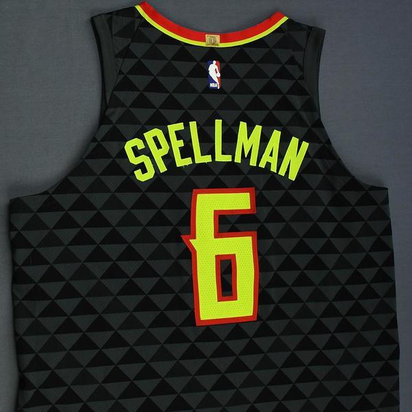 Atlanta Hawks Omari Spellman Icon Edition Black Swingman Jersey