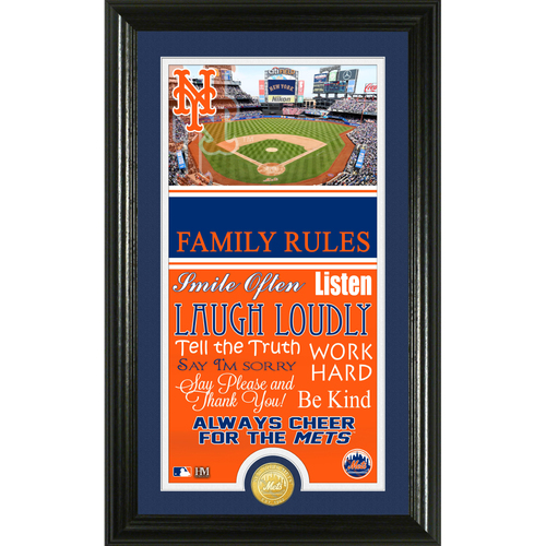 Photo of New York Mets Personalized Family Rules Photo Mint