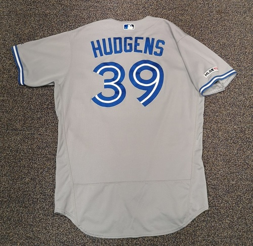 Photo of Authenticated Game Used Jersey - #39 Dave Hudgens (Apr 5, 19. Jul 29, 19). Size 48.