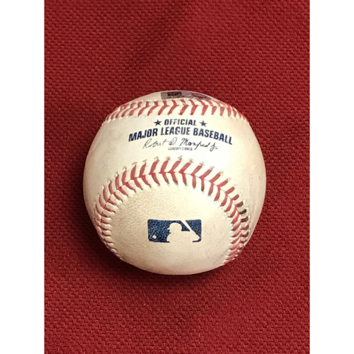 Photo of 8/24/20 Game-Used Baseball, Colorado Rockies at Arizona Diamondbacks: Taylor Clarke vs. Tony Wolters (Single to Starling Marte) and Raimel Tapia (Called Strike, Foul)