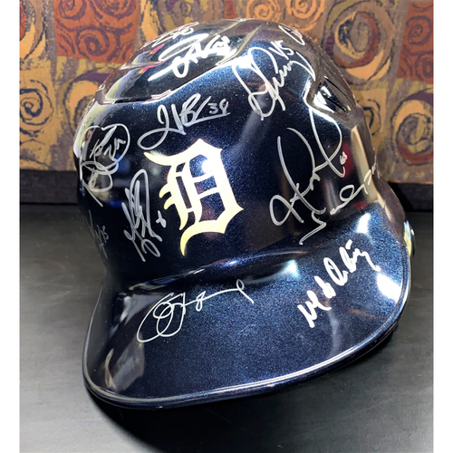 Photo of Detroit Tigers 2010 Team Signed Helmet  (MLB AUTHENTICATED)