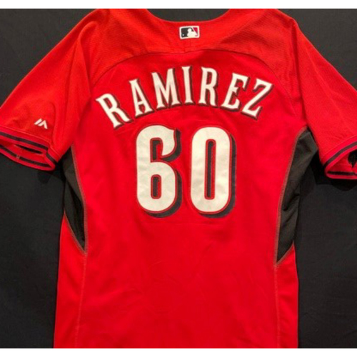 Photo of RAMIREZ -- Authentic Reds Jersey -- $1 Jersey Auction -- $5 Shipping -- Size 46 (Not MLB Authenticated)
