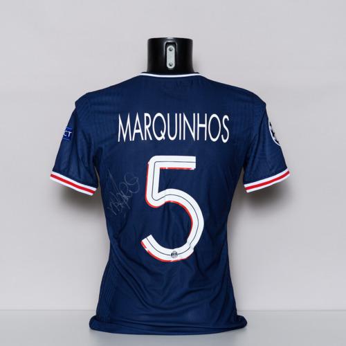 Photo of 20/21 Paris Saint-Germain Jersey - signed by Marquinhos