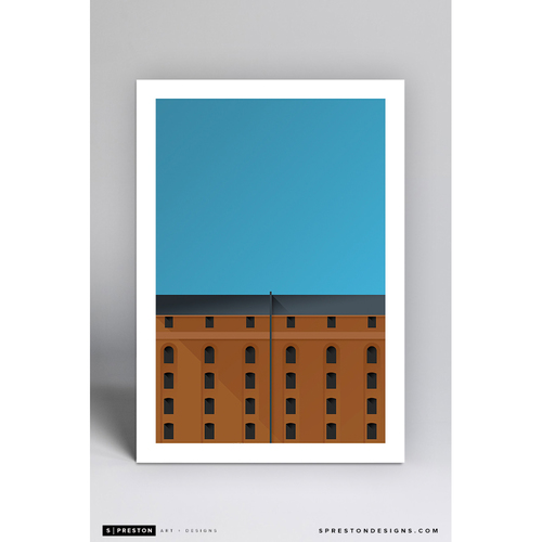 Photo of Camden Yards - Minimalist Ballpark Art Print by S. Preston - Baltimore Orioles