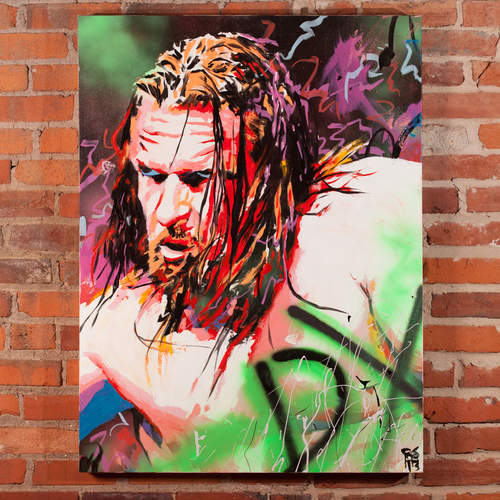 Triple H Champions Collection Painting by Rob Schamberger