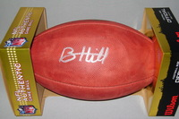 NFL - FALCONS BRIAN HILL SIGNED AUTHENTIC FOOTBALL