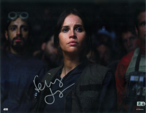 Felicity Jones as Jyn Erso 11x14 Autographed in Silver Ink Photo