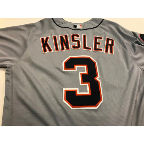 Photo of Game-Used Ian Kinsler Road Jersey