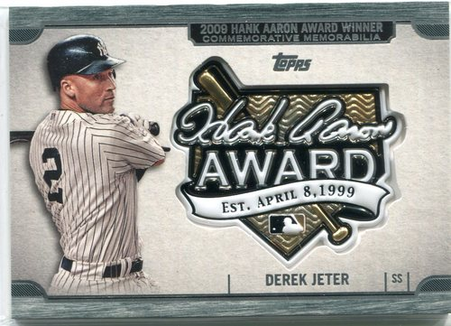 Photo of 2017 Topps Update Hank Aaron Award Relics  Derek Jeter