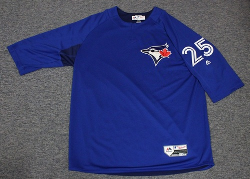 Photo of Authenticated Team Issued Batting Practice Jersey - #25 Marco Estrada. Size XL.