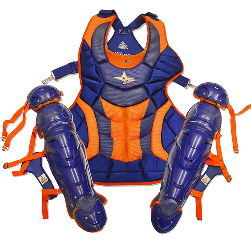 Photo of Team Issued Blue and Orange Catcher's Gear - 2017 Season
