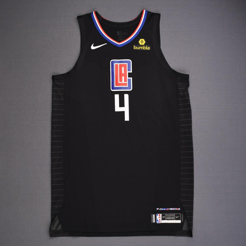 JaMychal Green - Los Angeles Clippers - 2019 NBA Playoffs - Game-Worn Black Statement Edition Jersey