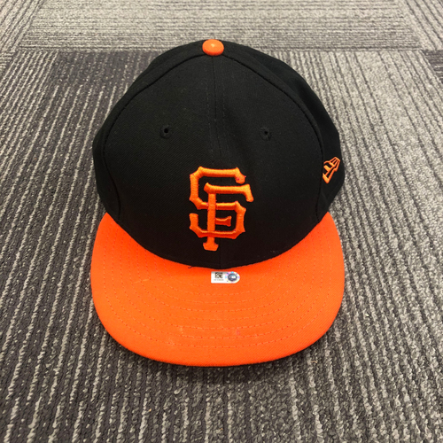 Photo of 2018 Orange Bill Cap worn by First Time All Star #13 Will Smith on 9/28/18 vs. LAD