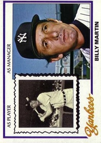 Photo of 1978 Topps #721 Billy Martin MG