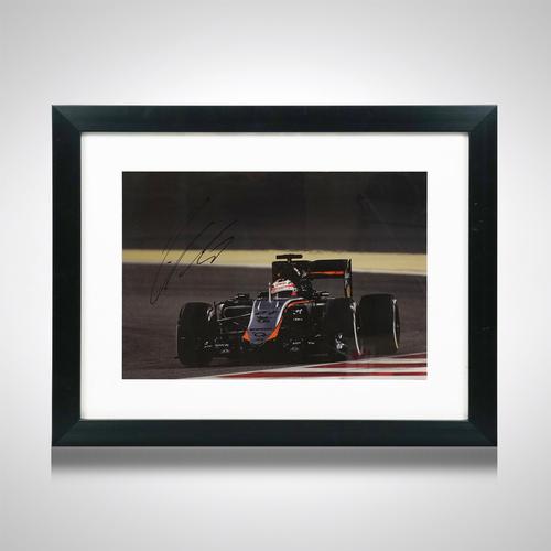 Photo of Signed Hulkenberg 2015 Bahrain Framed Photo