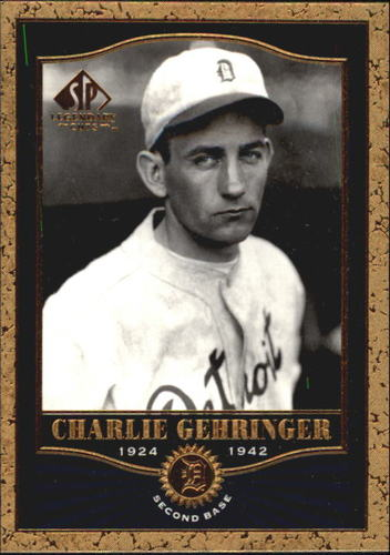 Photo of 2001 SP Legendary Cuts #70 Charlie Gehringer